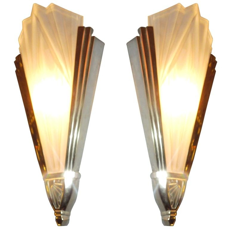 Art Deco Wall Decoration Amazing Ration Art Wall Sconces Images With Regard To Art Deco Wall Sconces (Image 4 of 25)