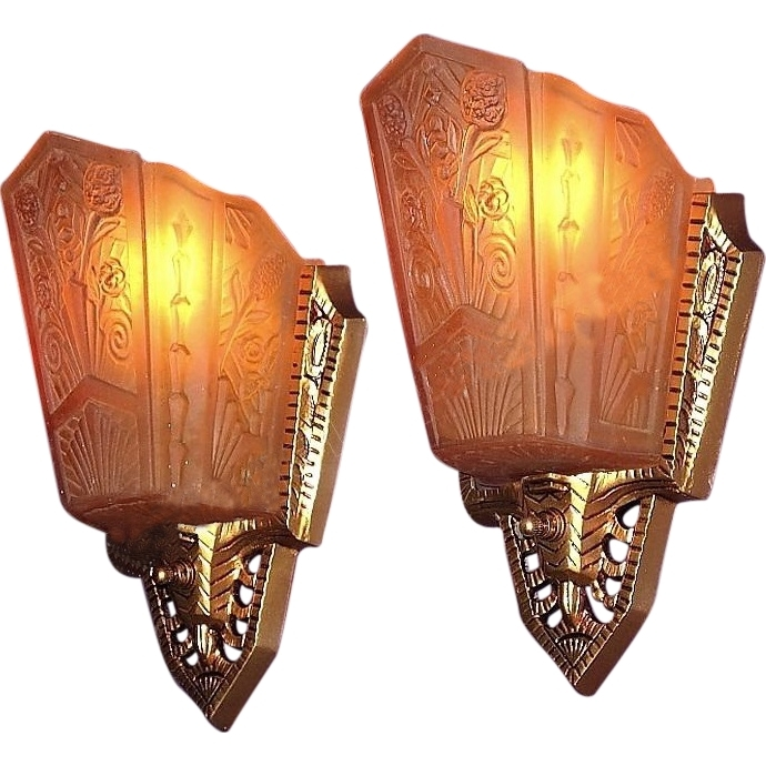 Art Deco Wall Lamp, Pr 1930S Art Deco Wall Sconce Lighting Fixtures With Regard To Art Deco Wall Sconces (Image 5 of 25)