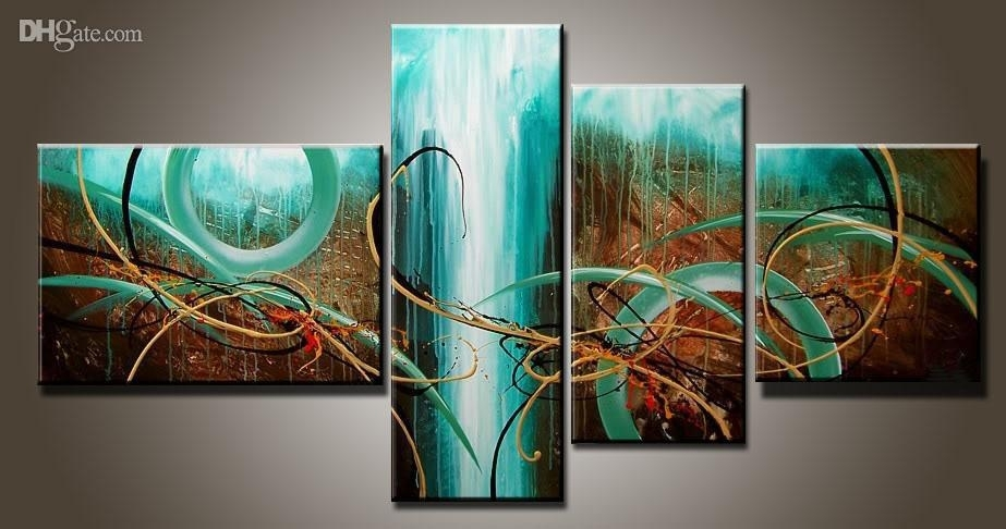 Art Modern Abstract Oil Painting Multiple Piece Canvas Art Sets Within Multi Piece Wall Art (View 6 of 20)