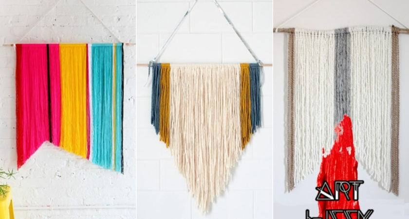 Art Week Diy Yarn Wall Hanging Easy Frisky – Home Art Decor | #89476 In Yarn Wall Art (Image 3 of 25)