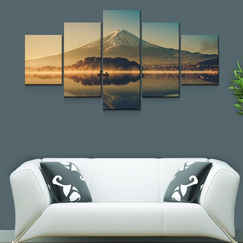 Artryst Large Canvas Wall Art 5 Panel Modern Painting And Prints With Regard To Modern Large Canvas Wall Art (Image 8 of 25)