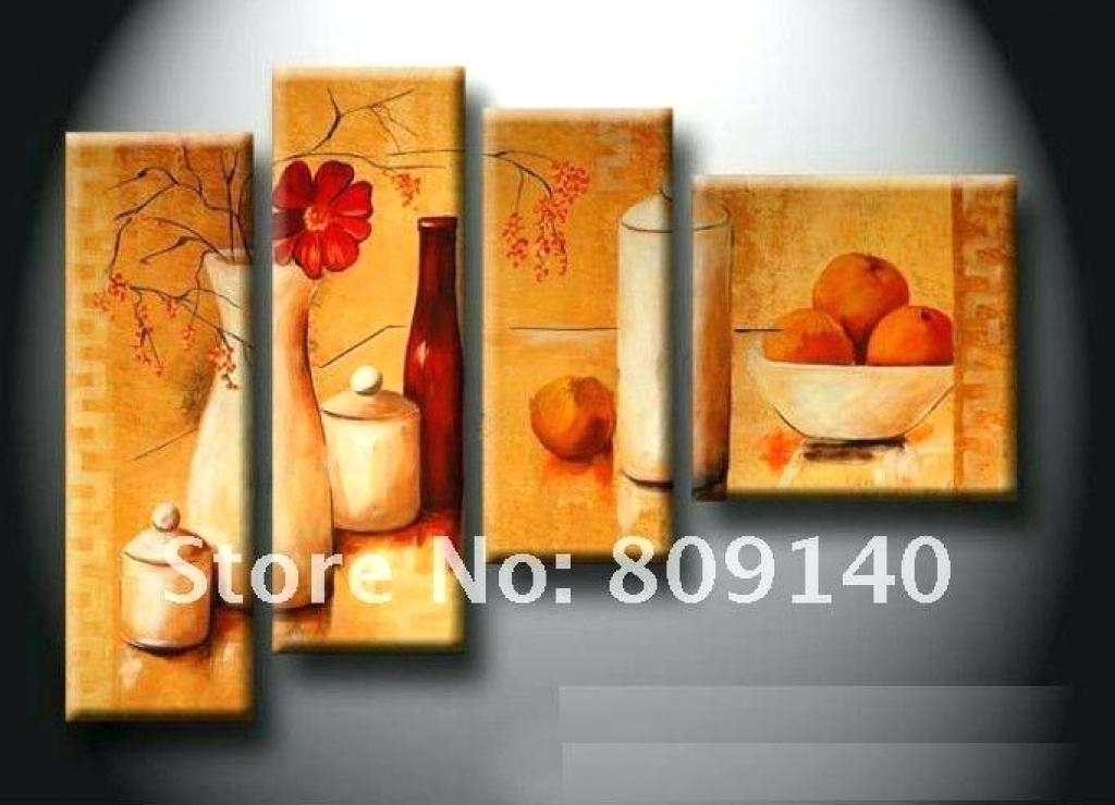 Artwork For Kitchen Kitchen Canvas Wall Decor Kitchen Dining Room For Kitchen Canvas Wall Art Decors (Image 3 of 25)