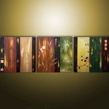 Asian Fantasy Modern Canvas Art Wall Decor Floral Oil Painting Wall With Modern Framed Wall Art Canvas (View 6 of 25)