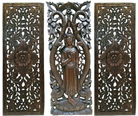 Asian Wall Art Decor Clearance Large Wood Carved Panel Home Paints Regarding Oriental Wall Art (Image 5 of 25)