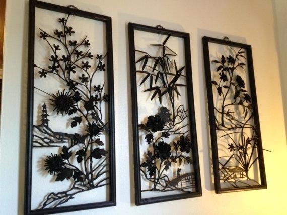Asian Wall Art Elegant Metal Best Oriental Uk – Travelinsurancedotau With Oriental Wall Art (View 12 of 25)