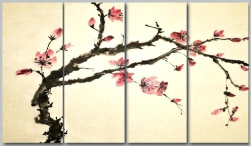 Asian Wall Art Panels Amazing Oriental Wall Art Home Decor Ideas Pertaining To Oriental Wall Art (View 11 of 25)