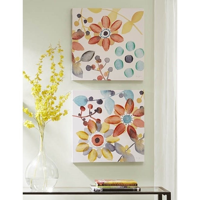 Assorted Multi Color Sweet Floral Canvas Wall Art | Rc Willey With Regard To Floral Canvas Wall Art (View 21 of 25)