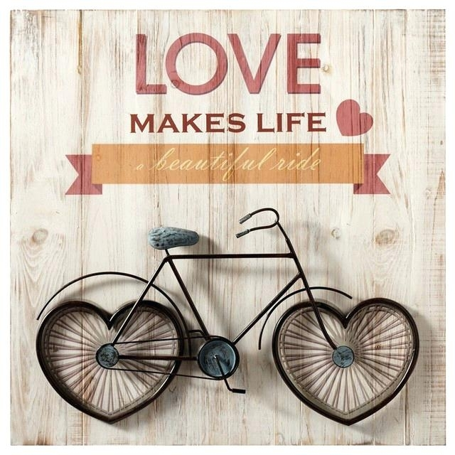 Astounding Bike Wall Art Interior Designing Home Ideas Decoration With Regard To Bicycle Wall Art (View 11 of 20)