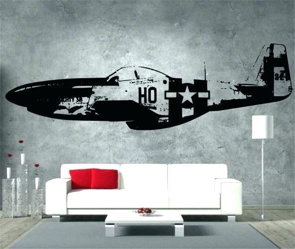 Aviation Wall Art Wall Art Vintage Aviation Decor Wooden Triptych Pertaining To Aviation Wall Art (Image 12 of 25)