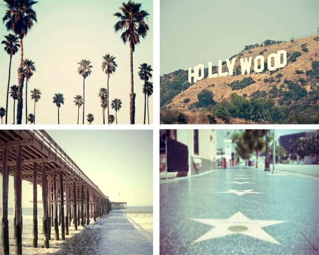 Awesome California Photography Print Set Los Angeles Large In Los With California Wall Art (View 12 of 20)