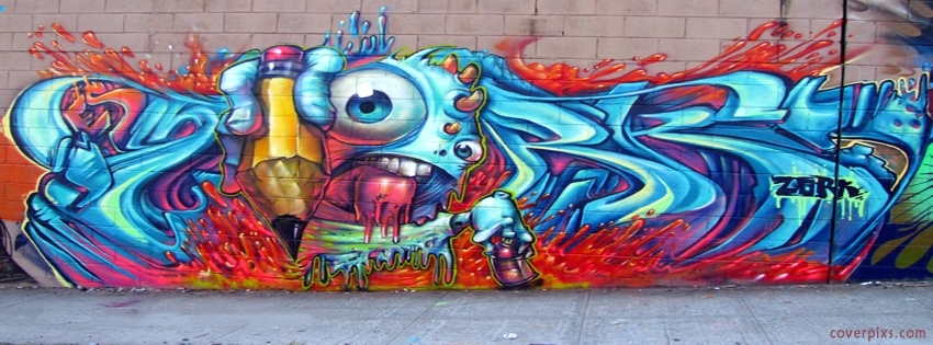 Awesome Creative Graffiti Styles Wall Art Covers For Facebook Tumblr In Graffiti Wall Art (View 5 of 25)
