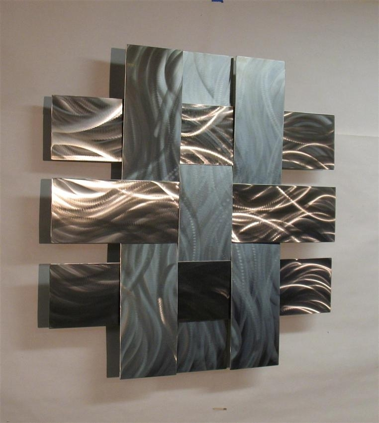 Awesome Wall Art Ideas Design Stainless Large Metal Wall Art Steel Regarding Large Metal Wall Art (Image 1 of 10)