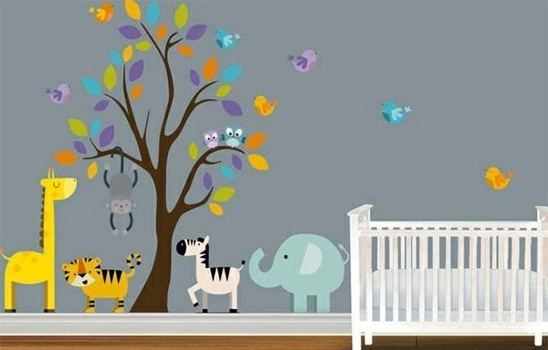 Baby Room Wall – 15 Wall Art Ideas With Animals | Interior Design Throughout Baby Room Wall Art (Image 4 of 20)