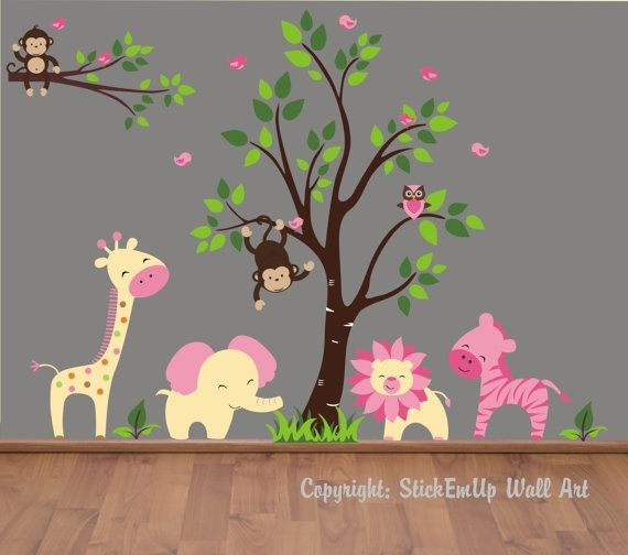 Baby Wall Decals – 155 – Nursery Wall Decals – Monkey Wall Decal In Baby Room Wall Art (Image 8 of 20)
