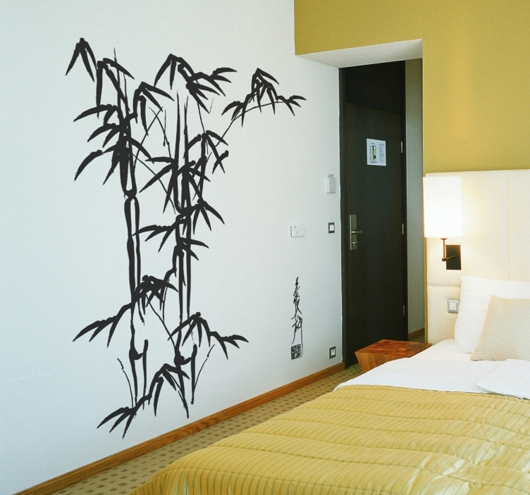 Bamboo Wall Art Decal – Tenstickers In Bamboo Wall Art (Image 5 of 25)