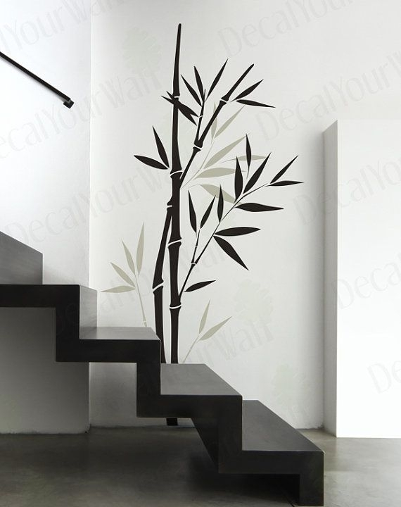 Bamboo Wall Decal Bedroom Living Room Nursery Wall Art Vinyl Pertaining To Bamboo Wall Art (Image 8 of 25)