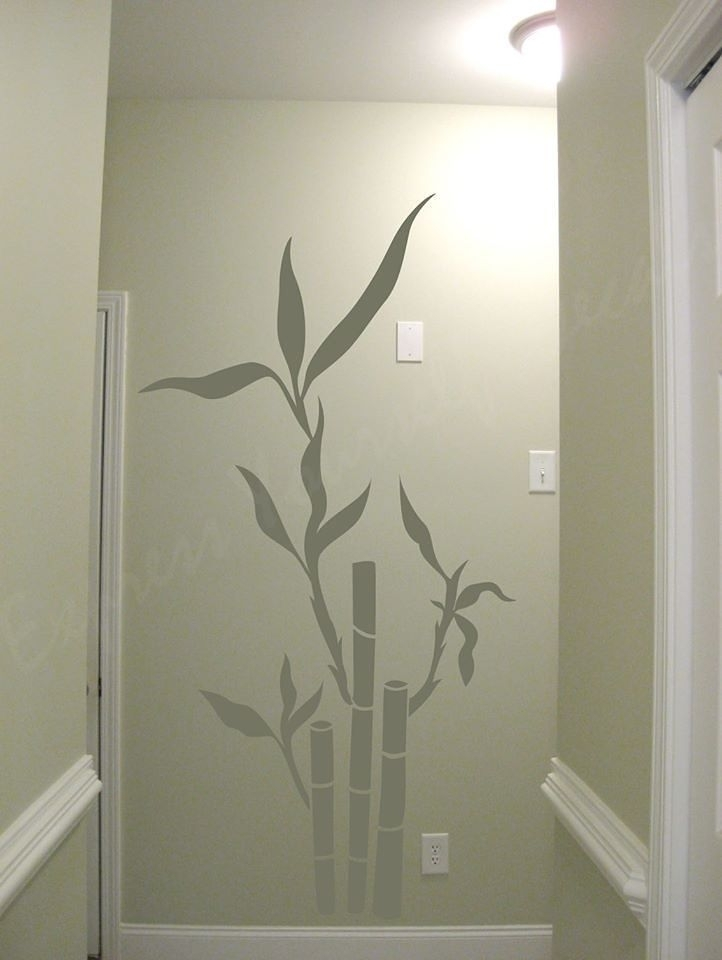Bamboo Wall Decal | Wall Decal | Wall Art Decal Sticker in Bamboo Wall Art