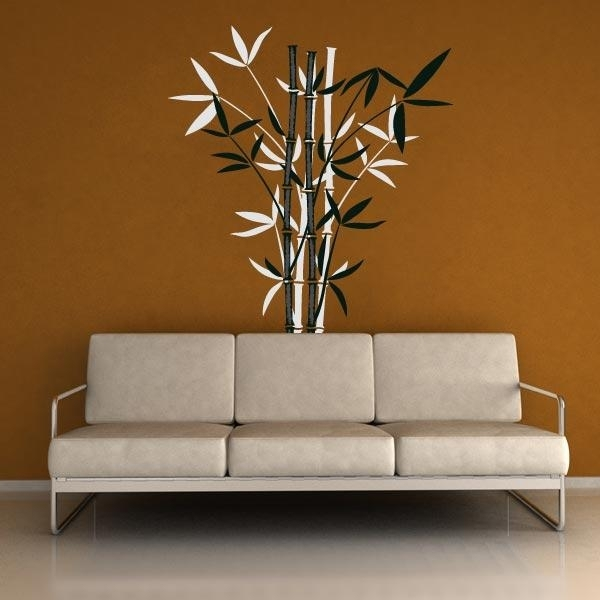 Bamboo Wall Decals | Bamboo Wall Art Decor | Wall Decal World Throughout Bamboo Wall Art (Image 10 of 25)