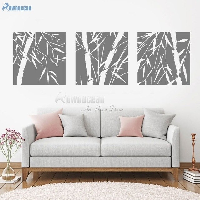 Bamboo Wall Stickers Beautiful Plant Decal For Living Room Bedroom Intended For Bamboo Wall Art (Image 12 of 25)
