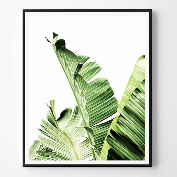Banana Leaf Print, Leaf Photography, Tropical Plant Photo, Tropical For Tropical Wall Art (Image 2 of 20)
