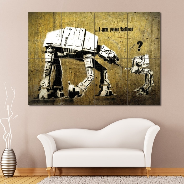 Banksy Star Wars Block Giant Wall Art Poster Within Giant Wall Art (Image 5 of 25)