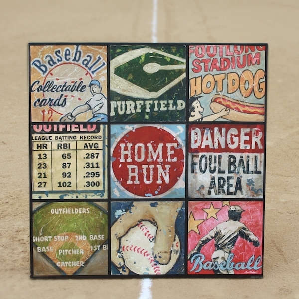Baseball Sports Art Collage Wall Art – America's Favorite Past Time Pertaining To Sports Wall Art (Image 1 of 25)