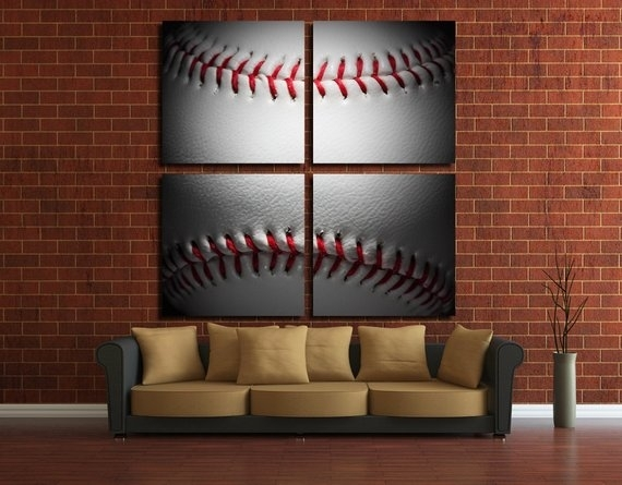 Baseball Wall Art Baseball Wall Decor Baseball Canvas Baseball | Etsy With Baseball Wall Art (View 1 of 25)