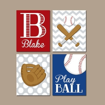 Baseball Wall Art Canvas Or Prints Baby From Trm Design | Wall Throughout Baseball Wall Art (View 8 of 25)