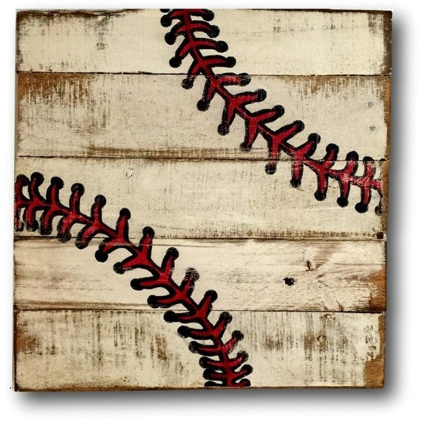 Baseball Wall Art Sports Decor Rustic Vintage Baseball Sign ($40 Throughout Baseball Wall Art (View 2 of 25)