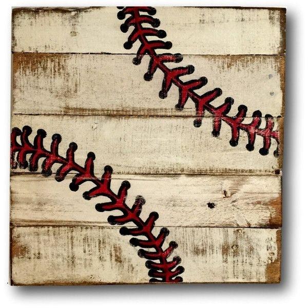 Baseball Wall Art Sports Decor Rustic Vintage Baseball Sign ($40 Throughout Baseball Wall Art (Image 8 of 25)