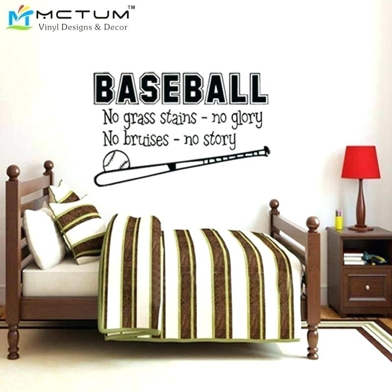 Baseball Wall Decals Also Baseball Wall Decals Sports Baseball Wall With Baseball Wall Art (View 24 of 25)
