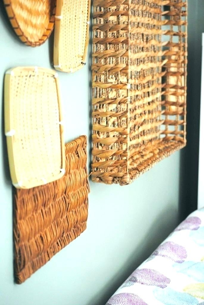 Basket Wall Decor Decorative Wall Baskets Woven Basket Wall Art Wall Regarding Woven Basket Wall Art (View 19 of 25)