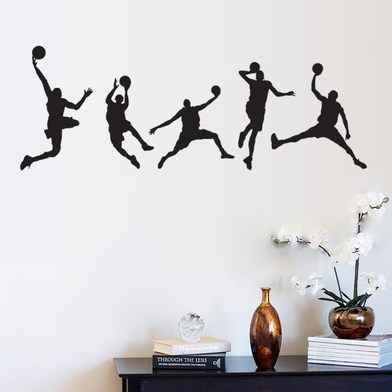 Basketball Match Wall Art Mural Decor Home Decoration Wallpaper Throughout Sports Wall Art (View 3 of 25)