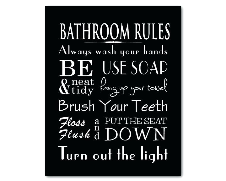 Bathroom Rules Printables Green Bathroom Rules Wall Art Beau Zoom Pertaining To Bathroom Rules Wall Art (View 8 of 25)