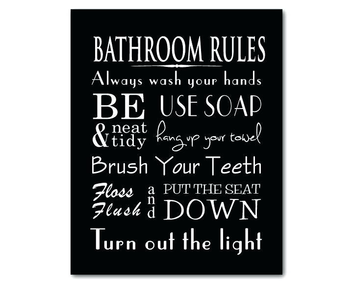 Bathroom Rules Printables Green Bathroom Rules Wall Art Beau Zoom Pertaining To Bathroom Rules Wall Art (Image 7 of 25)