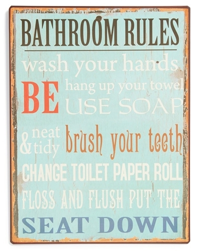 Bathroom Rules Wall Art | Everything Turquoise Within Bathroom Rules Wall Art (Image 9 of 25)