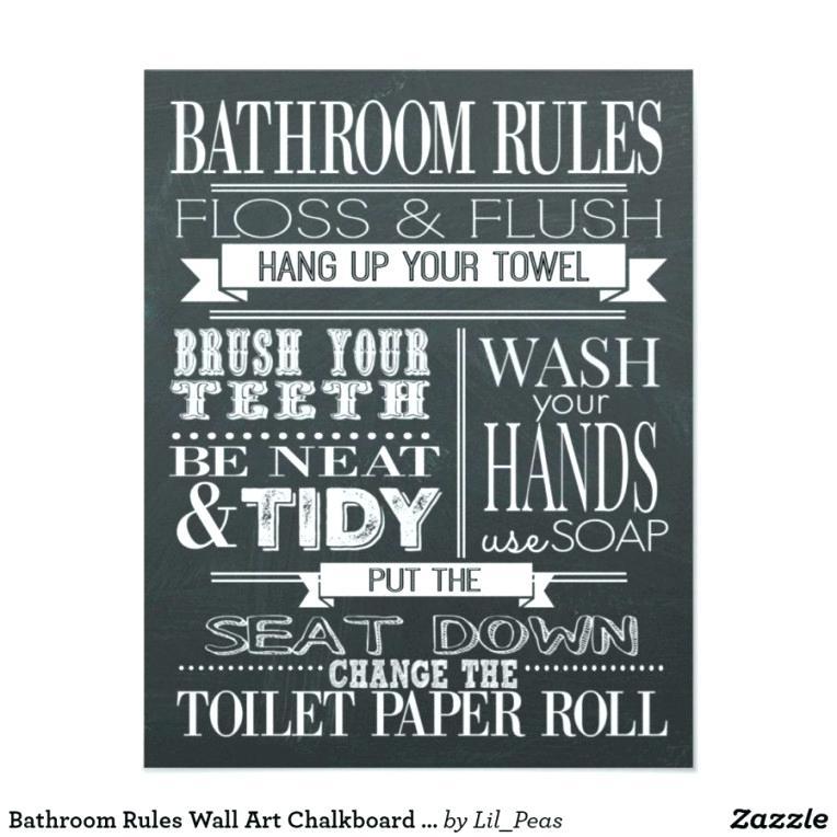 Bathroom Rules Wall Art Ideas Canvas – Darog With Bathroom Rules Wall Art (Image 11 of 25)