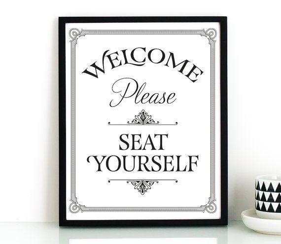 Bathroom Wall Art, Printable Art, Please Seat Yourself Sign With Regard To Bathroom Wall Art (Image 3 of 10)
