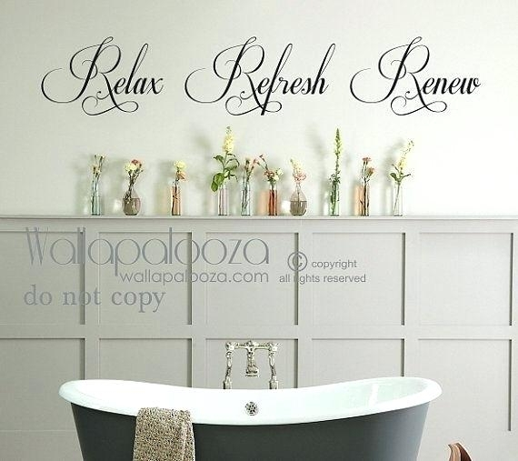 Bathroom Wall Decal Ideas Bathroom Wall Art Bathroom Wall Decal Inside Relax Wall Art (Image 3 of 20)