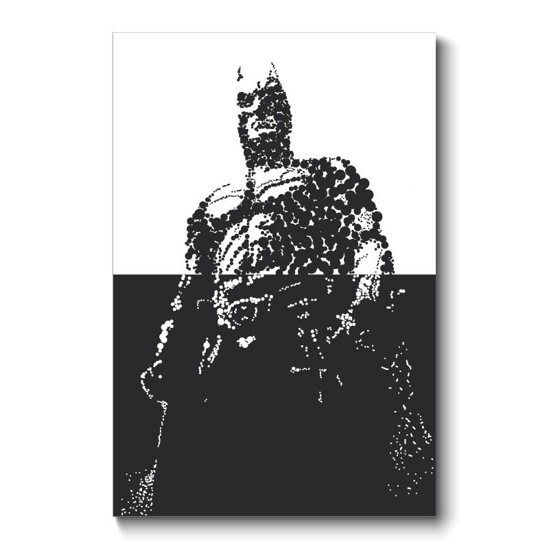 Batman Abstract Wall Art Canvas Print Intended For Batman Wall Art (Image 2 of 20)