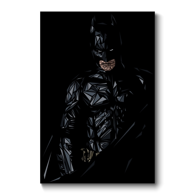Batman Abstract Wall Art Canvas Print Throughout Batman Wall Art (Image 3 of 20)