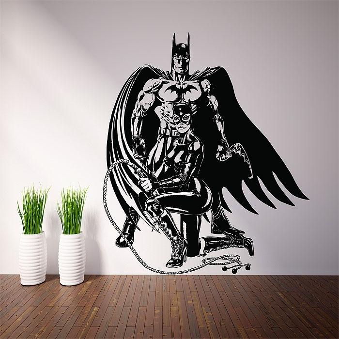 Batman And Catwoman Vinyl Wall Art Decal With Regard To Batman Wall Art (Image 4 of 20)
