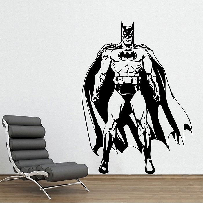 Batman Awesome Vinyl Wall Art Decal Pertaining To Batman Wall Art (View 7 of 20)