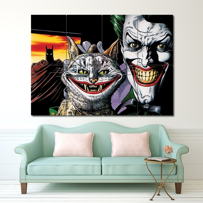Batman The Joker Bull And Ke Block Giant Wall Art Poster Inside Joker Wall Art (Image 4 of 20)