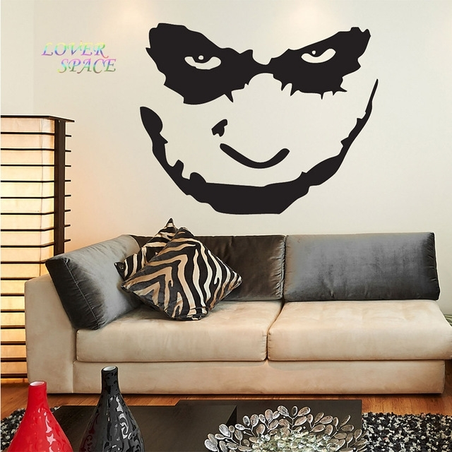 Batman The Joker Face Wall Decal Sticker Art Vinyl Mural Home Decor Regarding Joker Wall Art (Image 5 of 20)