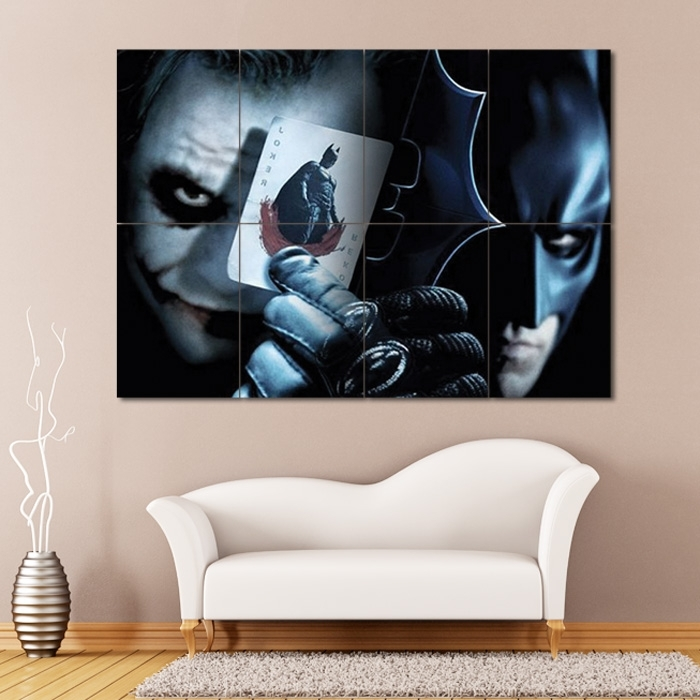 Batman Vs Joker Block Giant Wall Art Poster Regarding Joker Wall Art (Image 6 of 20)