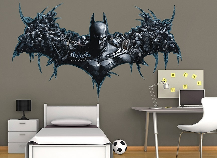 Batman Wall Art Decal Uni Design Decals Mural Decor – Gabc Inside Batman Wall Art (View 15 of 20)