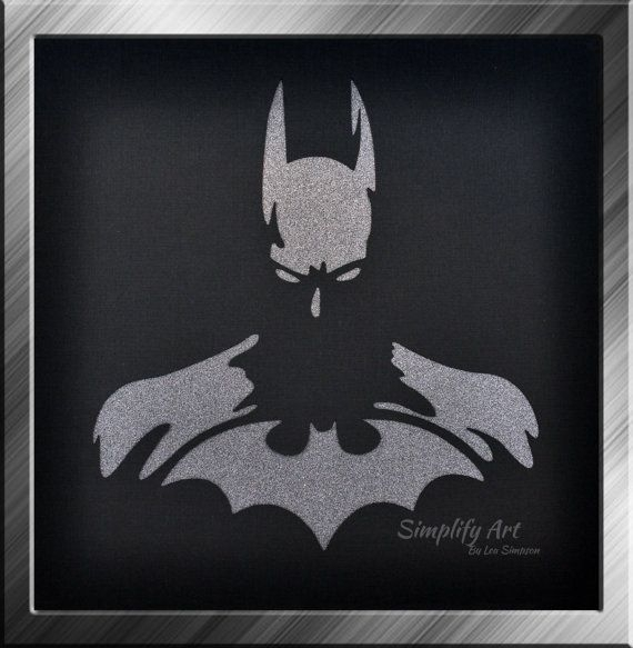 Batman Wall Art Super Hero Justice League Silhouette Wall Art With Regard To Batman Wall Art (View 17 of 20)