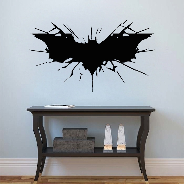 Batman Wall Decal Boys Bedroom Removable Animal Wall Stickers Black In Batman Wall Art (View 9 of 20)