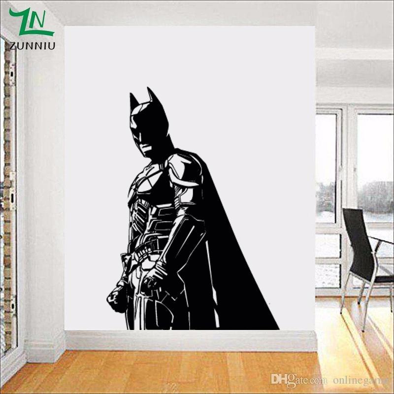 Batman Wall Sticker For Kids Boy Room Vinyl Decal The Dark Knight Pertaining To Batman Wall Art (Image 14 of 20)